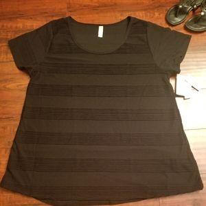 Lularoe 3x Black Ribbed Shirt New!